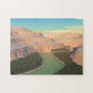 スネーク川渓谷のパズル ジグソーパズル