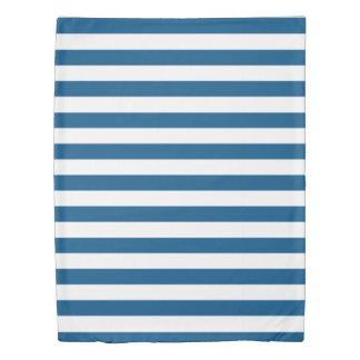 スノーケルの青及び白いストライプの 掛け布団カバー