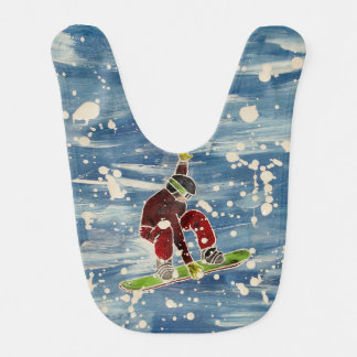 スノーボーダーのベビー用ビブ跳躍の ベビービブ