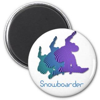スノーボーダーのロゴの磁石 マグネット