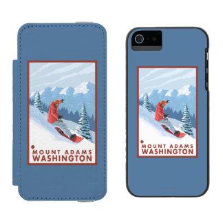 スノーボーダー場面-山アダムス、ワシントン州 INCIPIO WATSON™ iPhone 5 ウォレット ケース