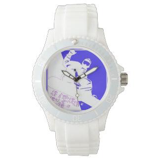 スノーボードのスノーボーダー 腕時計