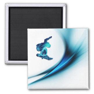 スノーボードのデザインの正方形の磁石 マグネット