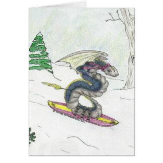 スノーボードのドラゴン カード