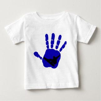スノーボードの暴動の青 ベビーTシャツ