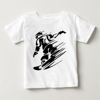 スノーボードの極端のスポーツ ベビーTシャツ
