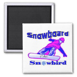 スノーボードのSnowbird マグネット