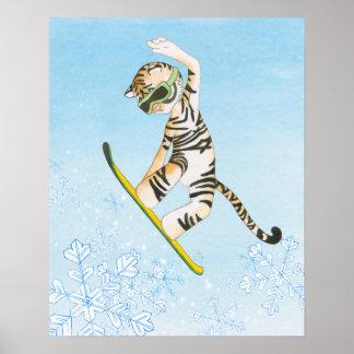 スノーボードポスターのトラ ポスター