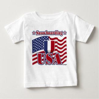 スノーボード米国 ベビーTシャツ