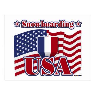 スノーボード米国 ポストカード