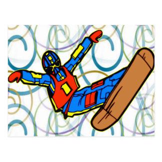 スノーボード ポストカード