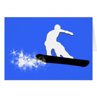 スノーボード。 粉の道 カード