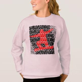 スノーボード#1 (blk) スウェットシャツ