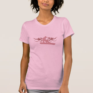 スノーボード。 tribalz。 ピンク tシャツ