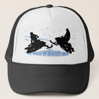 スノーモービルで行くこと- Snowmobilersの帽子 キャップ