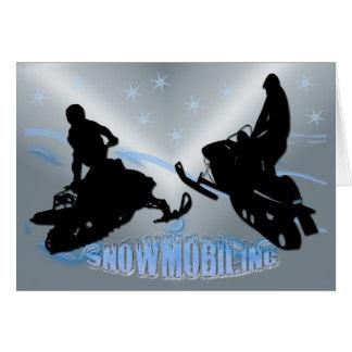 スノーモービルで行くこと- Snowmobilersカード カード