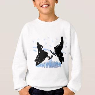 スノーモービルで行くこと- Snowmobilers スウェットシャツ