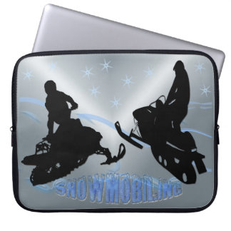 """スノーモービルで行くこと- Snowmobilers 15""""電子工学の袖 ラップトップスリーブ"""
