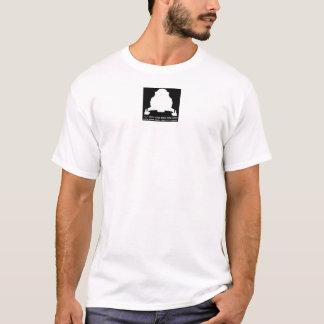 スノーモービルのブロックのロゴを競争させるブードゥー Tシャツ