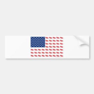 スノーモービルの旗 バンパーステッカー