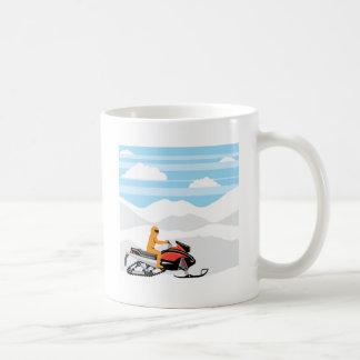 スノーモービルの景色 コーヒーマグカップ