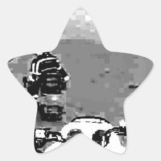 スノーモービルの自由 星シール