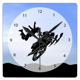 スノーモービル スクエア壁時計