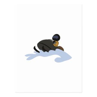 スノーモービル ポストカード