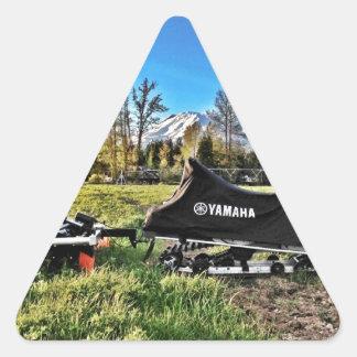 スノーモービル 三角形シール