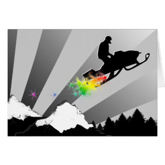 スノーモービル。 虹 カード