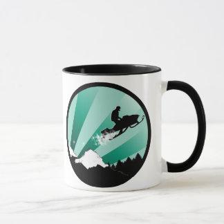 スノーモービル。 pthalo。 円 マグカップ
