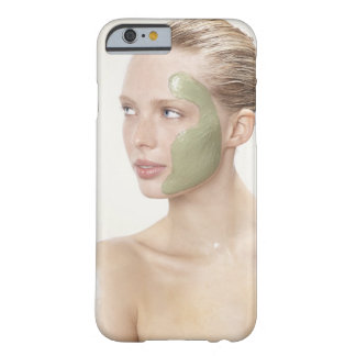 、スパぬれた、美しい毛、ブロンドの女性、青い目 BARELY THERE iPhone 6 ケース