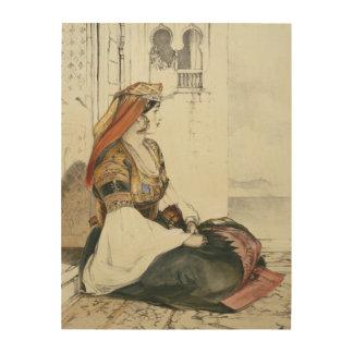 「スパのスケッチからのジブラルタルのユダヤ人の女性、 ウッドウォールアート