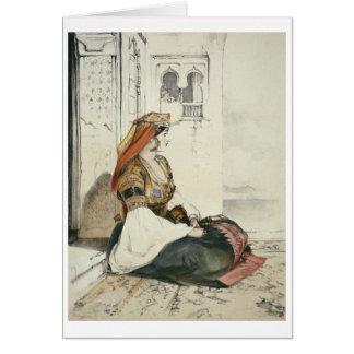 「スパのスケッチからのジブラルタルのユダヤ人の女性、 カード