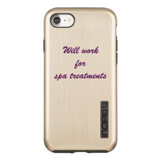 """""""スパのトリートメント""""の- iphoneの場合のために働きます incipio DualPro shine iPhone 8/7ケース"""