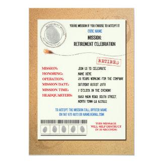 スパイの退職パーティーの役人の招待 カード