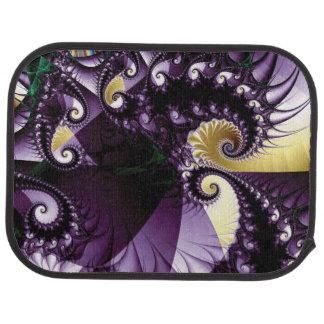 スパイクとの青紫色の螺線形のフラクタル カーマット