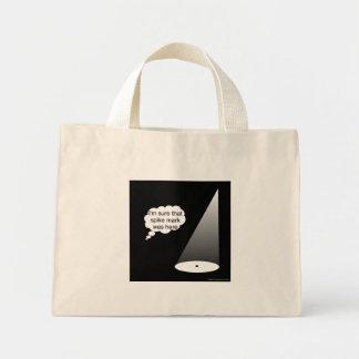 スパイクの印の淡色のバッグがあるところ ミニトートバッグ
