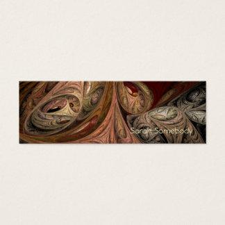 スパイスのねじれのフラクタルのプロフィールカード スキニー名刺