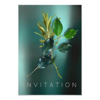 スパイスのイタリアンなシェフの夕食の緑の草木のオーガニックなティール(緑がかった色) カード