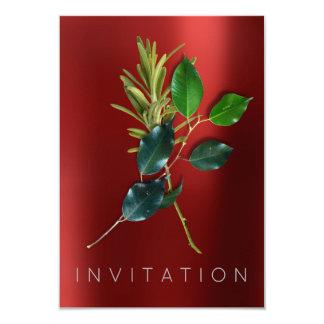 スパイスのイタリアンなシェフの夕食の緑の草木のオーガニックな赤 カード