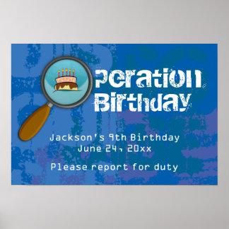 スパイ/秘密/特別捜査官の誕生日の旗 ポスター