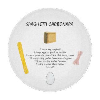 スパゲッティCarbonara カッティングボード