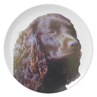スパニエル犬のディナー用大皿 プレート