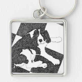 スパニエル犬犬のキーホルダー キーホルダー