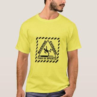 スパルタの警告 Tシャツ