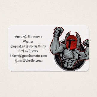 スパルタ式のトロイのマスコット 名刺