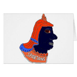 スパルタ式のヘッドロゴオレンジおよび海軍 カード