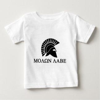 スパルタ式のヘルメットMolon Labe ベビーTシャツ