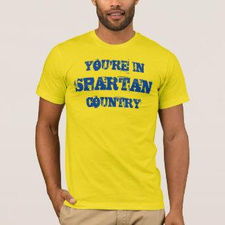 スパルタ式の国の金ゴールドのワイシャツ Tシャツ